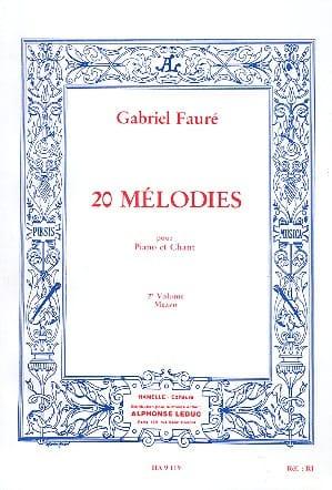 Gabriel Fauré - 20 Melodies Volumen 2. Mezzo - Partition - di-arezzo.es