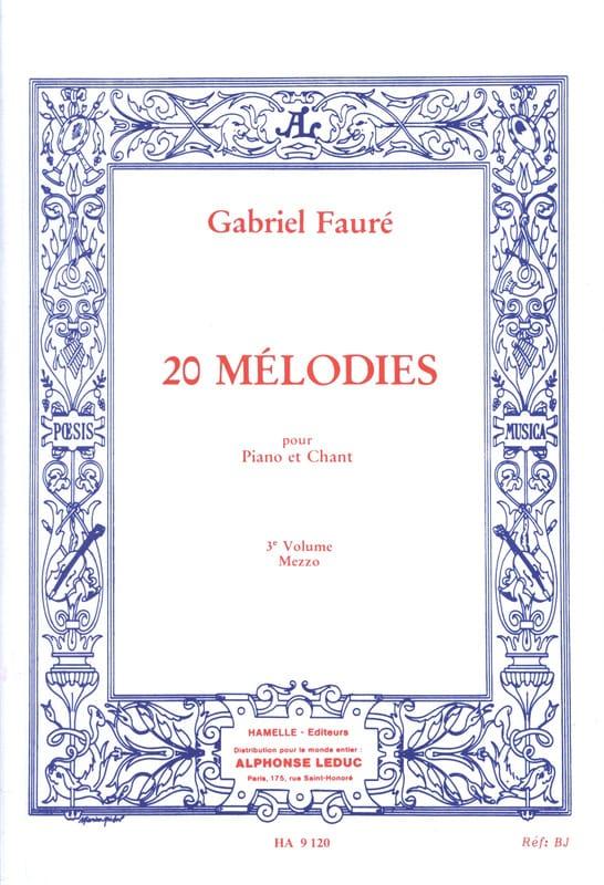 Gabriel Fauré - 20 Melodías Volumen 3. Mezzo - Partition - di-arezzo.es