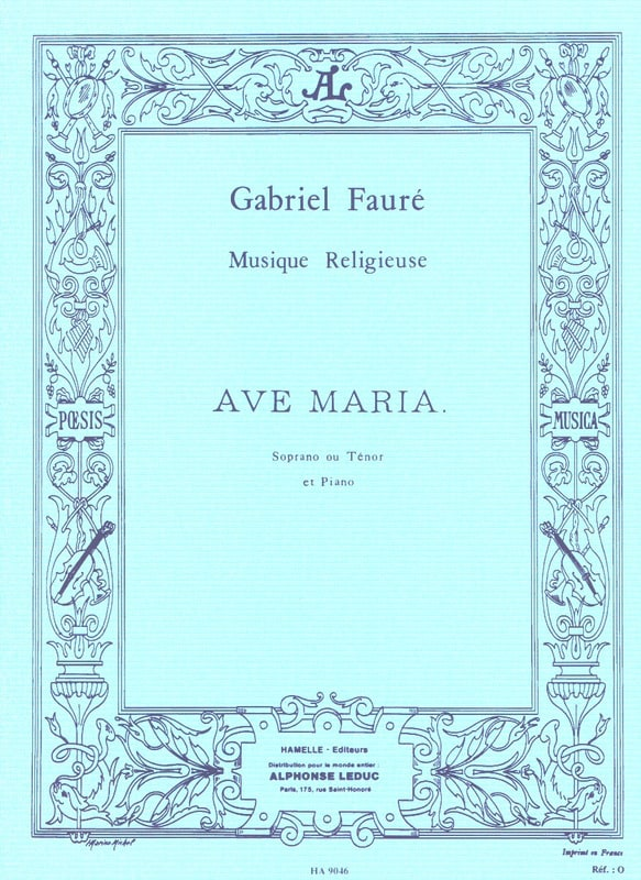 Gabriel Fauré - Ave Maria. Aloud - Partition - di-arezzo.co.uk