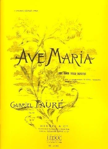 Ave Maria Opus 93 - FAURÉ - Partition - laflutedepan.com