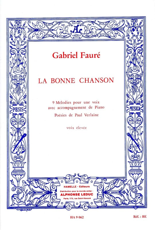 Gabriel Fauré - The Good Song Opus 61. High Voice - Partition - di-arezzo.co.uk