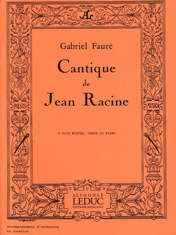 Gabriel Fauré - Song of Jean Racine - Partition - di-arezzo.com