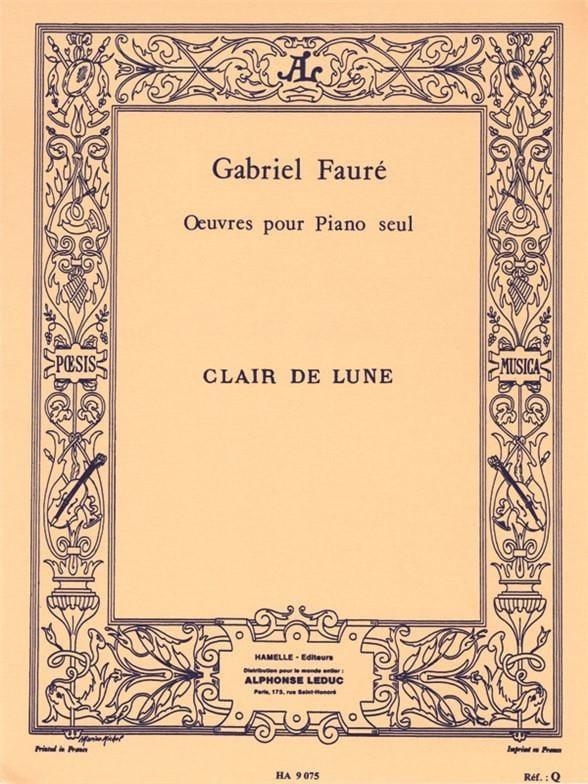 Clair De Lune op. 46-2 - FAURÉ - Partition - Piano - laflutedepan.com