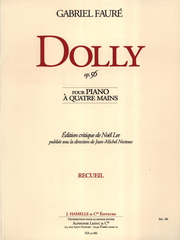 Dolly Opus 56. 4 Mains - FAURÉ - Partition - Piano - laflutedepan.com