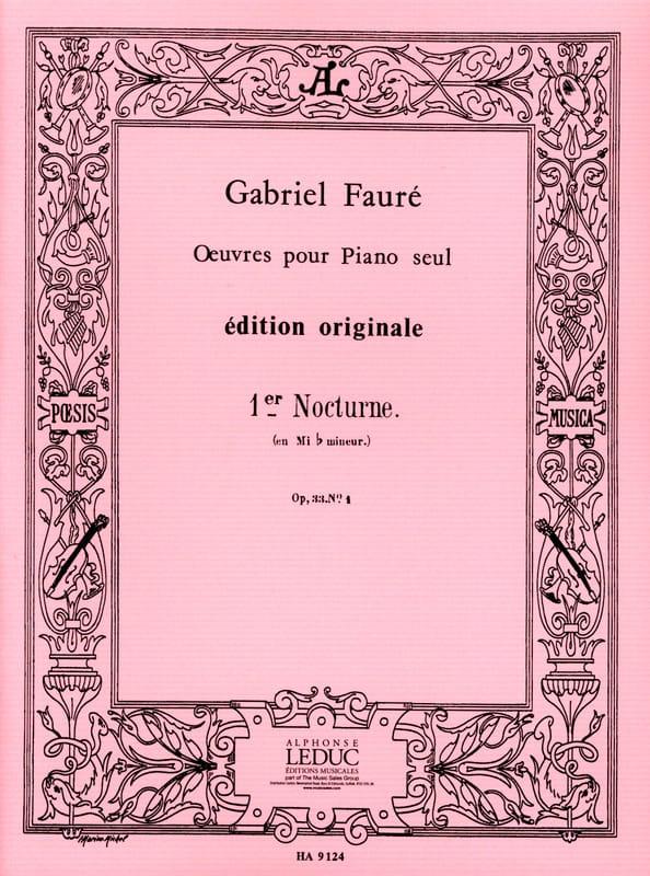 Nocturne N°1 Opus 33-1 - FAURÉ - Partition - Piano - laflutedepan.com