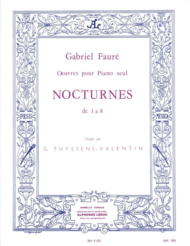 Gabriel Fauré - Nocturnes From 1 to 8 - Partition - di-arezzo.co.uk
