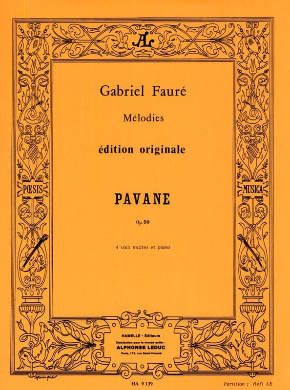 Gabriel Fauré - pavane - Partition - di-arezzo.co.uk