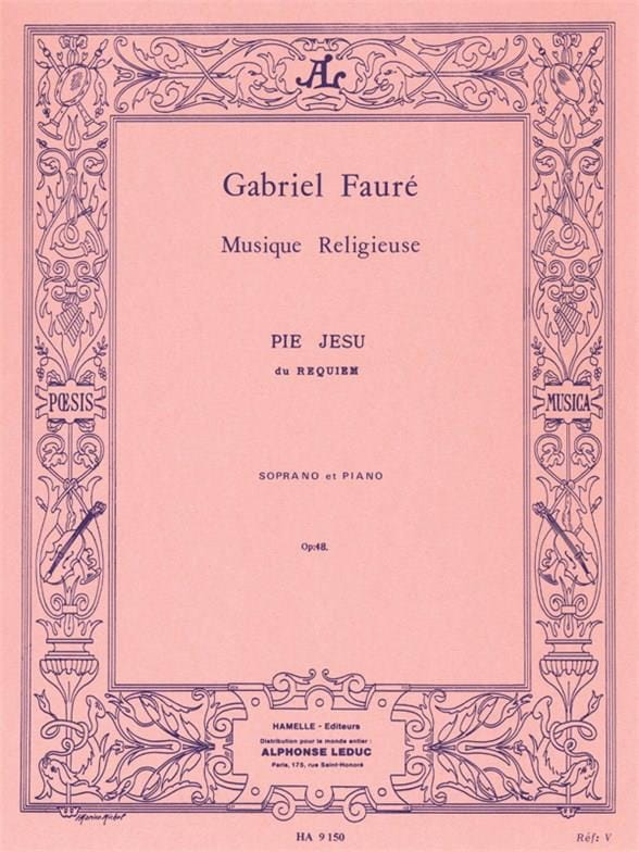 Gabriel Fauré - Pius Jesu Opus 48 - Partition - di-arezzo.co.uk