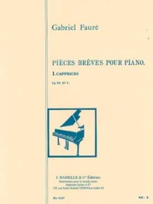 Capriccio Opus 84-1 - FAURÉ - Partition - Piano - laflutedepan.com
