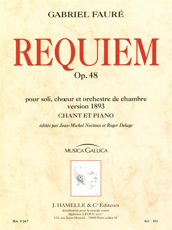 Gabriel Fauré - Requiem - Version 1893 - Partition - di-arezzo.co.uk