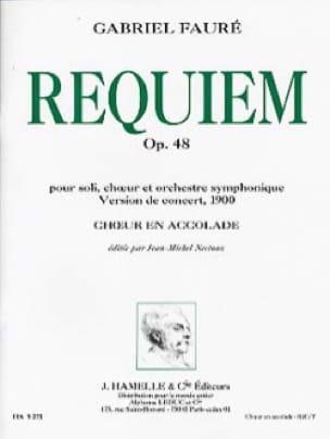 Requiem Opus 48 Version 1900. Choeur seul - FAURÉ - laflutedepan.com