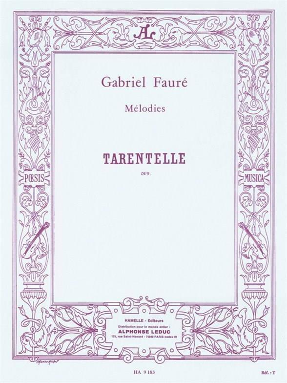 Tarentelle - FAURÉ - Partition - Duos - laflutedepan.com