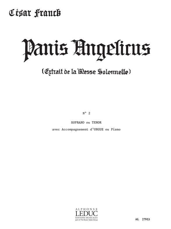 Panis Angelicus N° 2. Voix Haute - FRANCK - laflutedepan.com