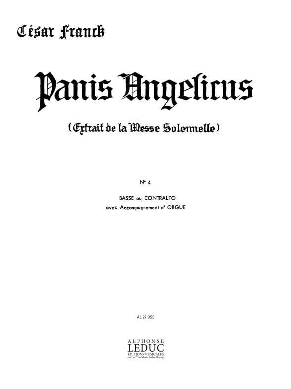 Panis Angelicus N°4 - FRANCK - Partition - laflutedepan.com