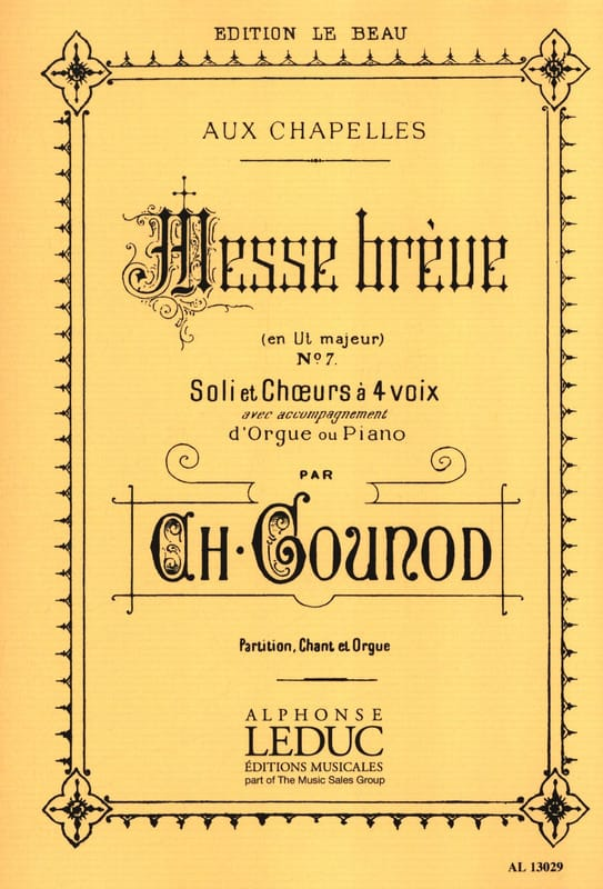 Charles Gounod - Brief Mass at Chapels No. 7 - Partition - di-arezzo.co.uk