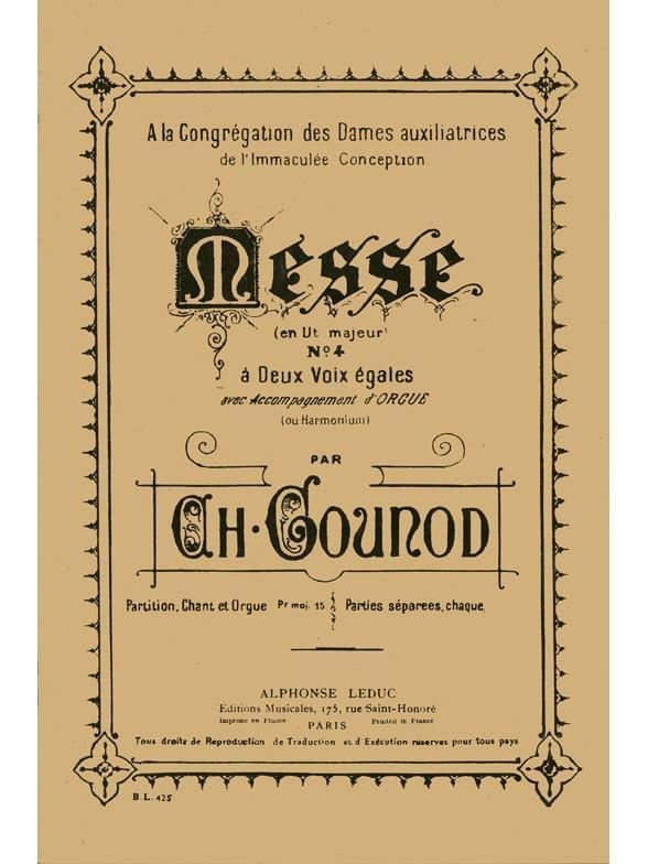 Messe N°4. - GOUNOD - Partition - Chœur - laflutedepan.com