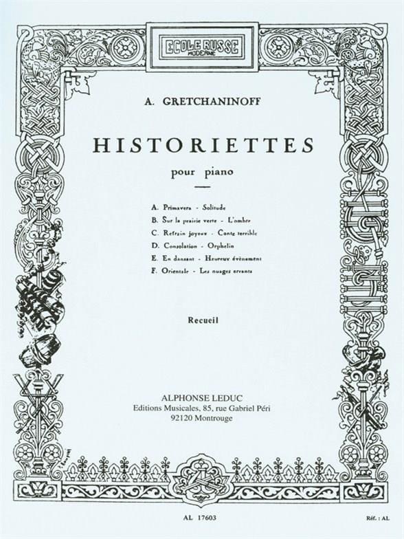 Alexander Gretchaninov - Opus 118 History Books - Partition - di-arezzo.co.uk
