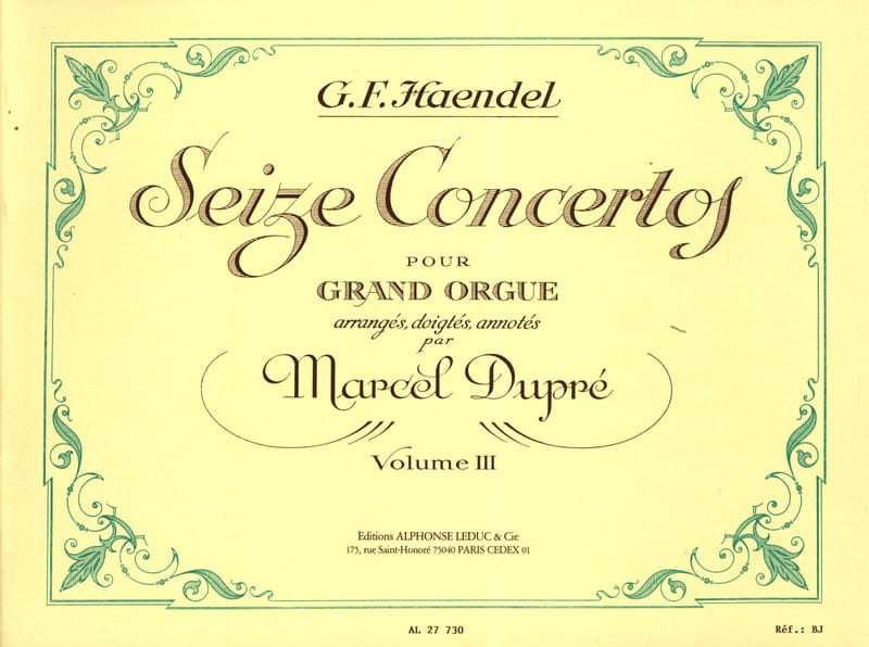 16 Concertos Volume 3 - HAENDEL - Partition - Orgue - laflutedepan.com