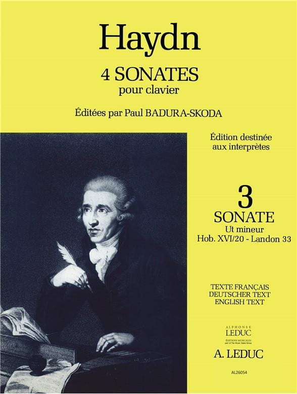 Sonate En Ut Mineur Hob 16-20 - HAYDN - Partition - laflutedepan.com