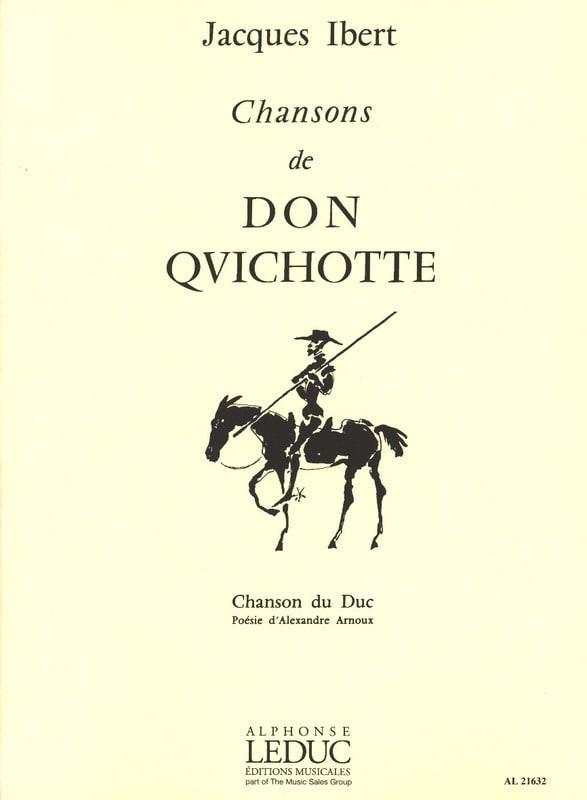 Chanson Du Duc - IBERT - Partition - Mélodies - laflutedepan.com