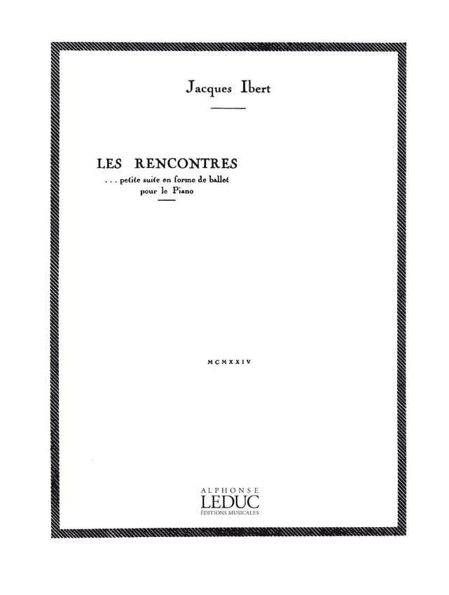 Jacques Ibert - Les Rencontres - Partition - di-arezzo.fr