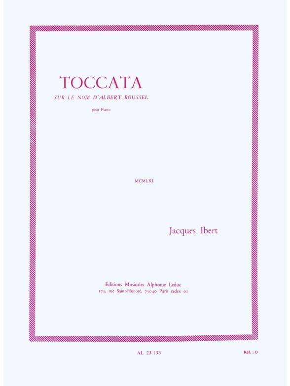 Jacques Ibert - Toccata - Partition - di-arezzo.co.uk