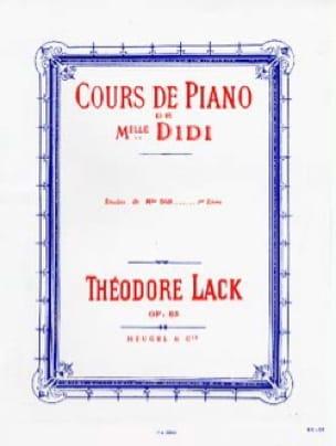 Théodore Lack - Studies of Miss Didi Opus 85 Book 1 - Partition - di-arezzo.co.uk
