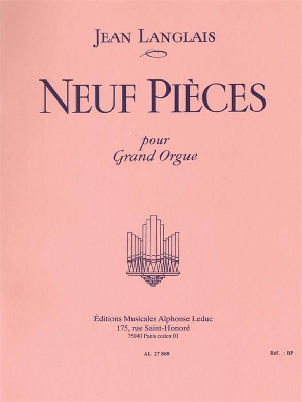 Jean Langlais - 9 pezzi - Partition - di-arezzo.it