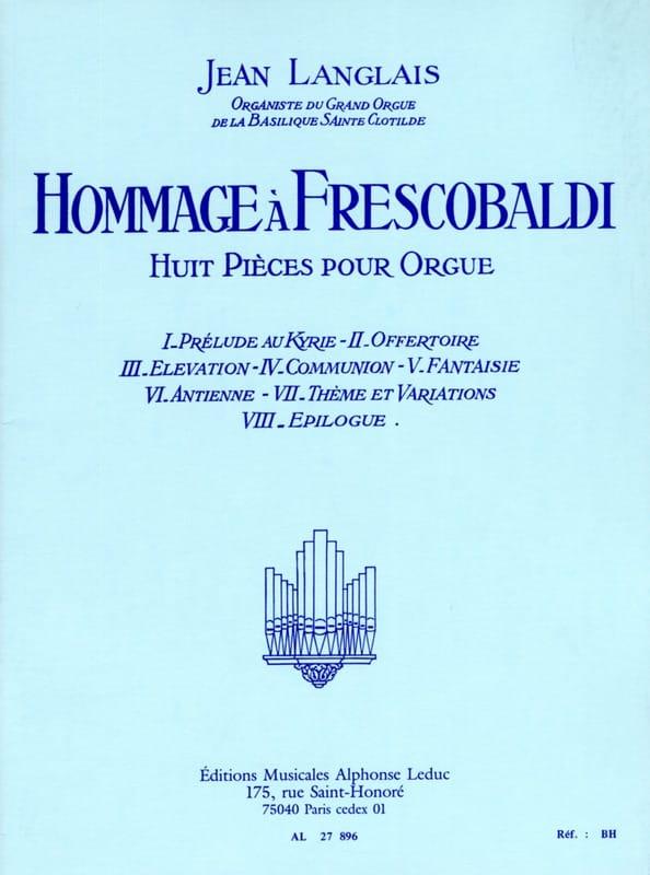 Hommage à Frescobaldi - Jean Langlais - Partition - laflutedepan.com