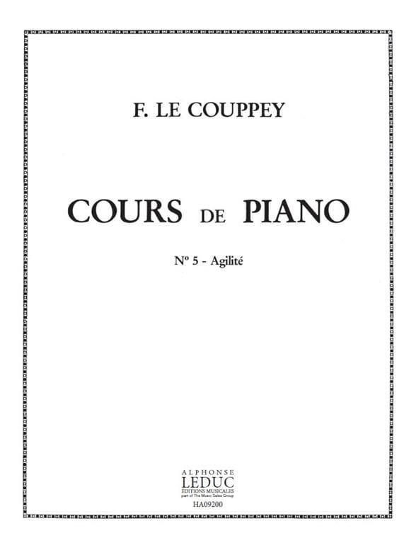 L'agilité. - Couppey Le - Partition - Piano - laflutedepan.com