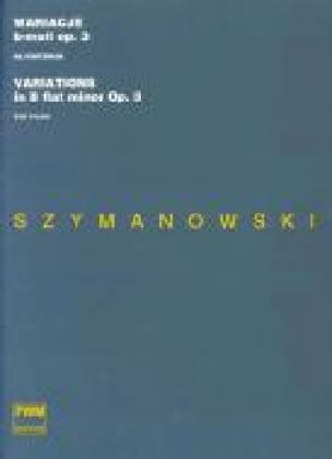 Karol Szymanowski - 12 Variations B flat Minor Opus 3 - Partition - di-arezzo.co.uk
