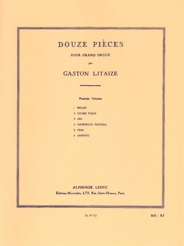 Gaston Litaize - 12 piezas Volumen 1 - Partition - di-arezzo.es