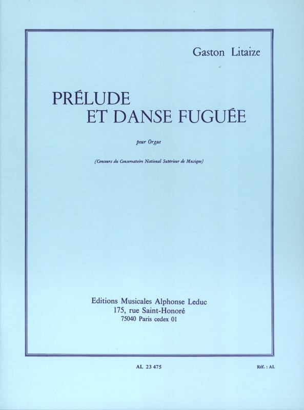 Gaston Litaize - Prelude and Fuga Dance - Partition - di-arezzo.co.uk