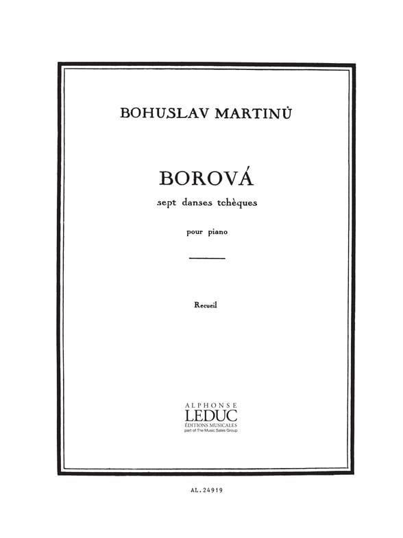 Bohuslav Martinu - Borova - Partition - di-arezzo.co.uk
