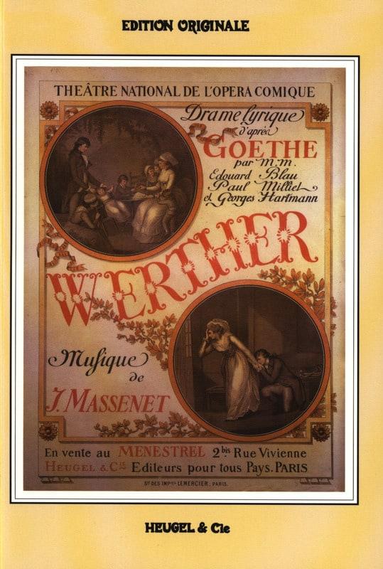 Jules Massenet - Werther - Partition - di-arezzo.es