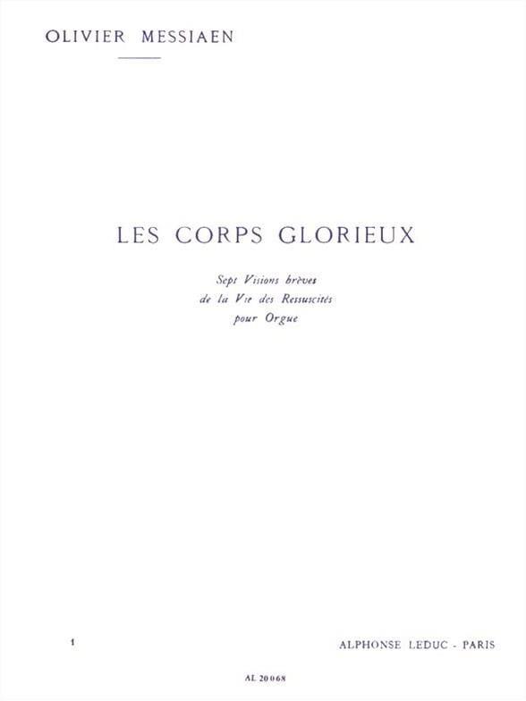Les Corps Glorieux Volume 1 - MESSIAEN - Partition - laflutedepan.com