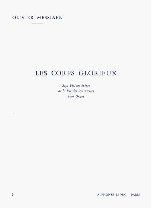 Olivier Messiaen - The Glorious Bodies Volume 3 - Partition - di-arezzo.com