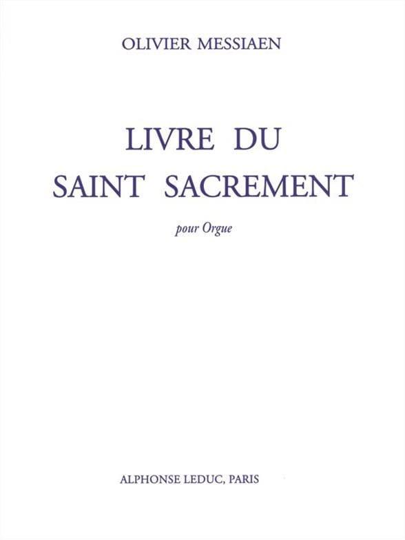 Olivier Messiaen - Book of the Blessed Sacrament - Partition - di-arezzo.com