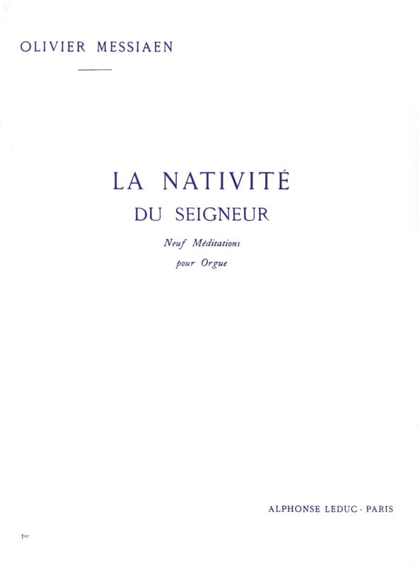 Olivier Messiaen - The Nativity of the Lord Volume 1 - Partition - di-arezzo.co.uk