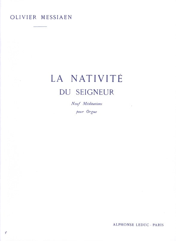Olivier Messiaen - The Nativity of the Lord Volume 3 - Partition - di-arezzo.com