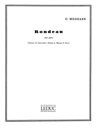 Olivier Messiaen - Rondeau - Partition - di-arezzo.co.uk