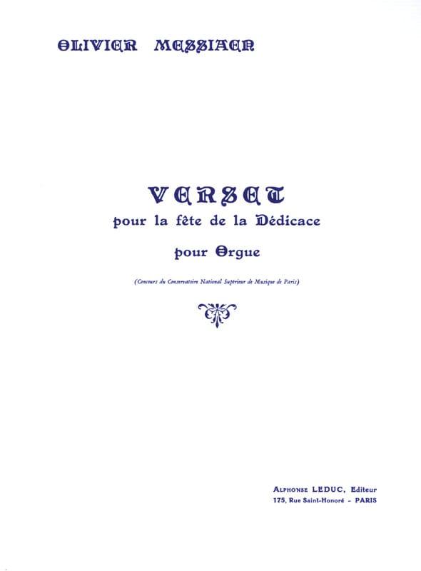 Verset pour la Fête de la Dédicace - MESSIAEN - laflutedepan.com
