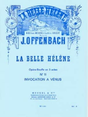 Jacques Offenbach - Invocation To Venus. the beautiful Helen - Partition - di-arezzo.co.uk
