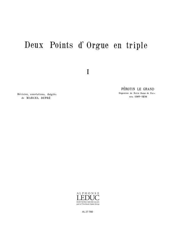 2 Points D'Orgue En Triple - Perotin / Dupré Marcel - laflutedepan.com