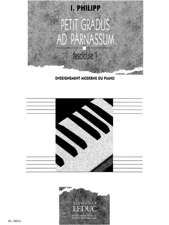 Petit Gradus Volume 1 - Isodore Philipp - Partition - laflutedepan.com