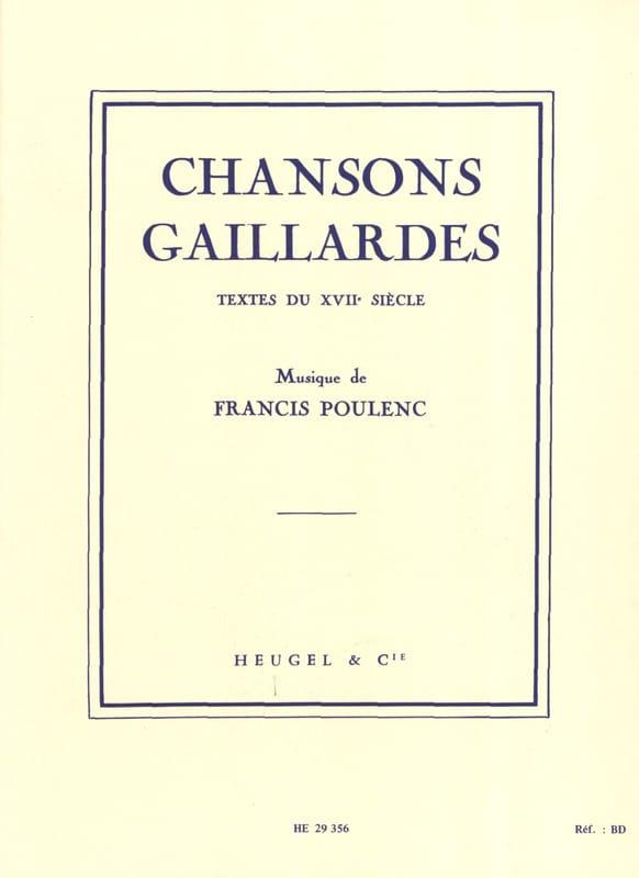 Francis Poulenc - Canciones de Gaillardes - Partition - di-arezzo.es