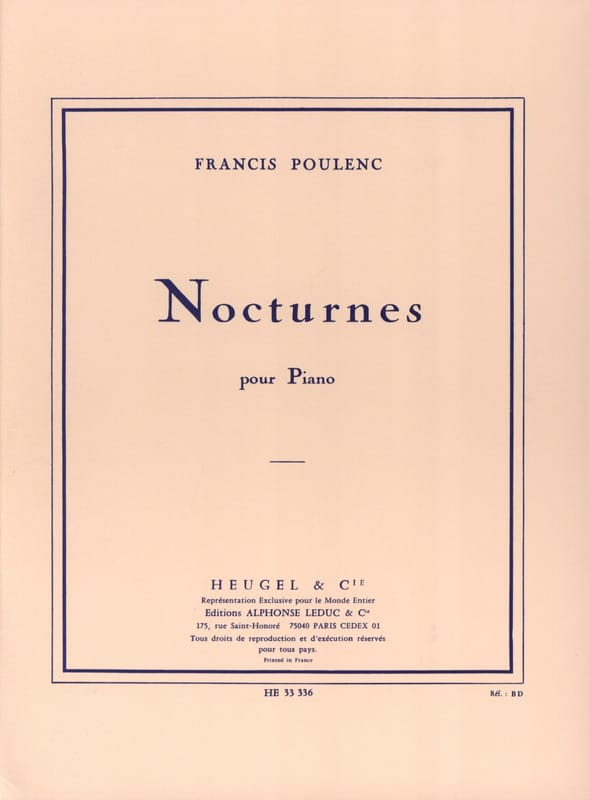 Francis Poulenc - Nocturnes - Partition - di-arezzo.co.uk