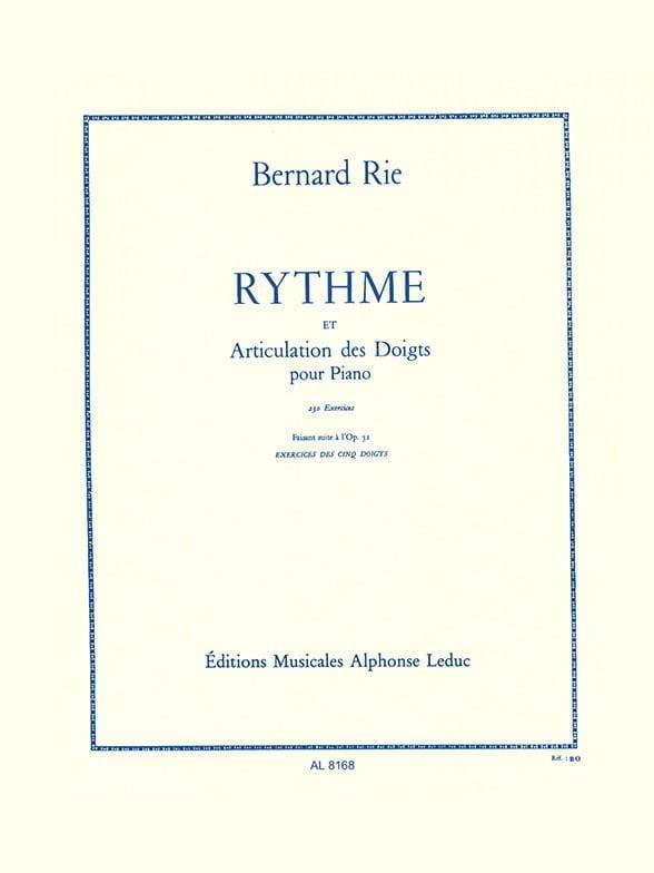 Rythme et Articulation Opus 42 - Bernard Rie - laflutedepan.com