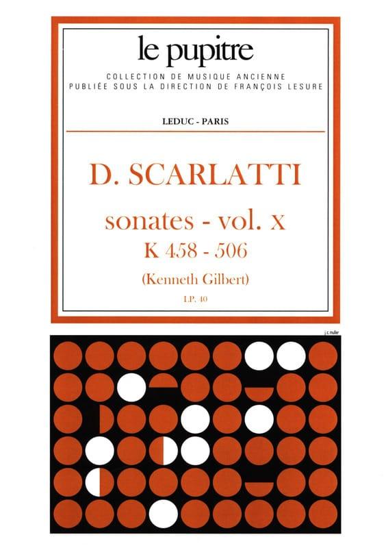 Scarlatti Domenico / Gilbert Kenneth - Complete Works Volume 10. K458 A K506 - Partition - di-arezzo.co.uk