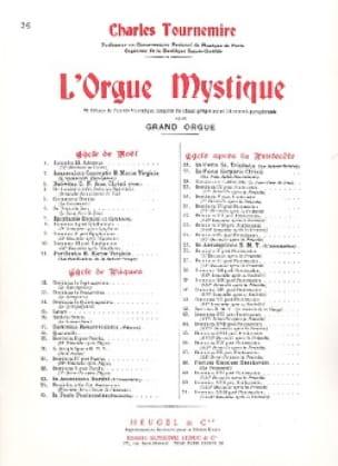 Trinité. Orgue Mystique 26 - Charles Tournemire - laflutedepan.com